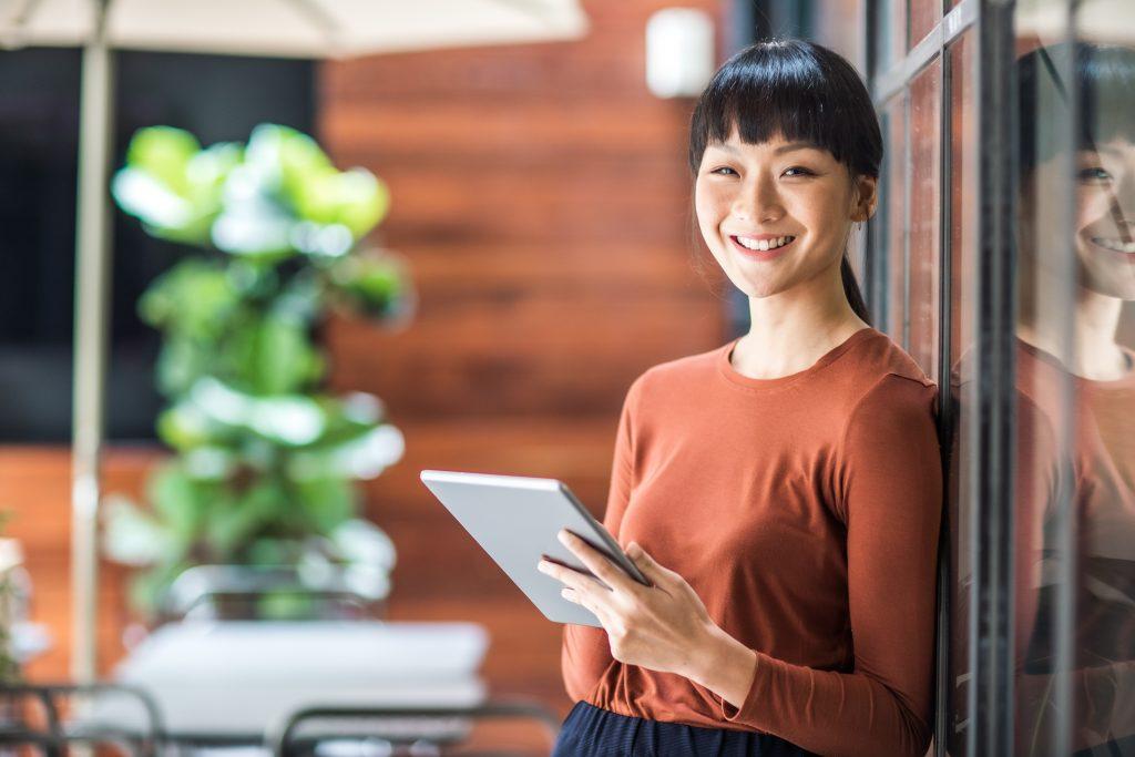 Portrait of a young asian entrepreneur.
